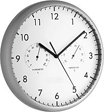 TFA Dostmann Analogue wall clock with thermometer