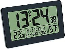 TFA Dostmann Large Digital Radio Wall Clock with