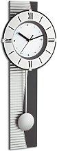 TFA Pendulum Wall Clock, Silver