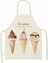 TGBN Durable Cotton Linen Home Cooking Apron Sweet
