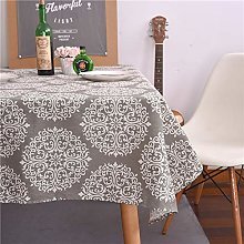 TGBN Vntage Rose Gray Tablecloth Cloth Tea Table