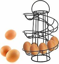 TGFM Kitchen Spiral Eggs Storage Rack Basket