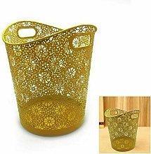 TGFM Modern Floral Plastic Waste Bin Rubbish Bin