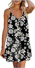 TGTB Fashion Women Summer Sunflower Printed Button