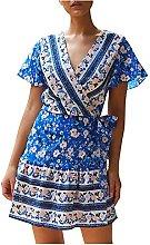 TGTB New Women Summer Fashion V Neck Short Sleeve