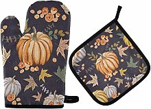Thanksgiving Day Oven Mitts Pot Holder Sets -
