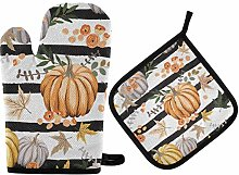 Thanksgiving Day Oven Mitts Pot Holders Sets -