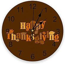 Thanksgiving PVC Wall Clock, Silent Non-Ticking