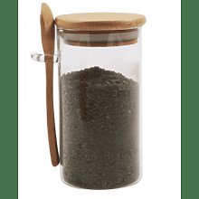 That Pantry - Small Glass Jar With Bamboo Lid And