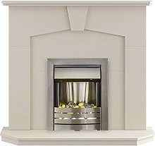 The Abbey Modern Fireplace with Helios Electric