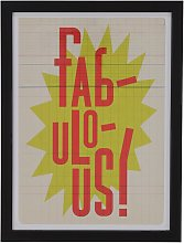 The Art Group Edu Barba 'Fabulous' Framed
