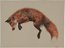 The Art Group Jane Bannon Leaping Fox Canvas Wall