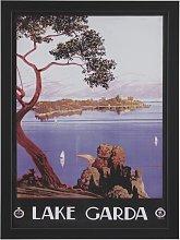 The Art Group Piddix Vintage Lake Garda Framed