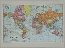 The Art Group Stanford's World Map Canvas
