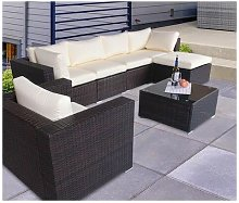 The Astbury - 7 Seat Modular Corner Rattan Sofa Set