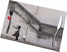 The Banksy Girl Insulation Heat Resistant Table