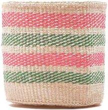 The Basket Room - Alama Light Pink Green Stripe