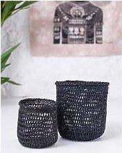 The Basket Room - Black Open Weave Storage Basket