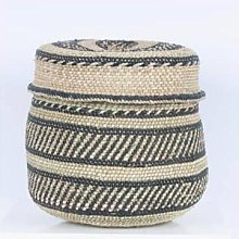 The Basket Room - Fair Trade Woven Lidded Basket