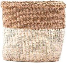 The Basket Room - Large Khaki & White Storage