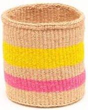 The Basket Room - Mazao Flouro Pink Yellow Woven