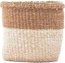 The Basket Room - Medium Khaki & White Storage