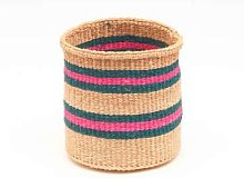 The Basket Room - Ndoto Turquoise Pink Sand Woven