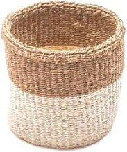 The Basket Room - Small Khaki & White Storage