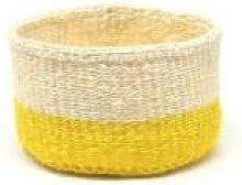 The Basket Room - Yellow and White Alizeti Basket