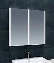 The Bath People Lilac LED Mirrored Double Wall
