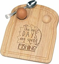 The Best Days are Spent Fishing Breakfast Dippy