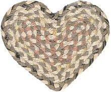The Braided Rug Company - Granite Jute Heart