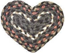 The Braided Rug Company - Marble Jute Heart