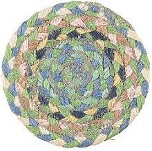 The Braided Rug Company - Mint Jute Coasters Set Of 6