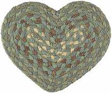 The Braided Rug Company - Seaspray Jute Heart