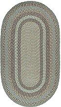 The Braided Rug Company Seaspray Oval Jute Braided