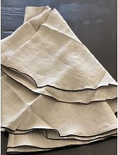 THE BROWNHOUSE INTERIORS - 120cm Linen Table Cloth