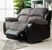 The Cali Black and Grey Fabric Reclining Sofas,