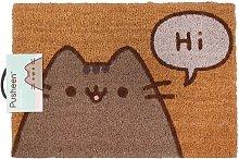 The Cat Says Hi Door Mat (One Size) (Brown) -