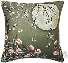 The Chateau by Angel Strawbridge Heron On The Moat Filled Grey Cushion