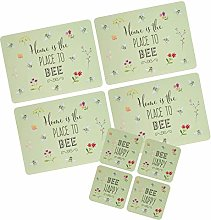 The English Tableware Company Bee Happy Set of 4