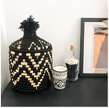 The Find Store - Black Zig Zag Berber Bread Basket