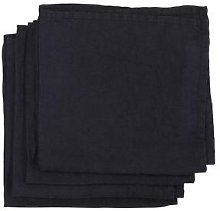 The Find Store - Linen Napkins Black