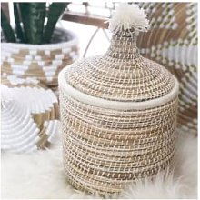 The Find Store - Natural Reed White Berber Bread