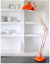 The Forest & Co. - Angled Floor Lamp - Crimson Red