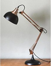The Forest & Co. - Copper And Black Desk Lamp -