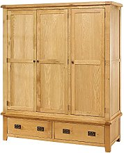 The Furniture Market Hereford Rustic Oak Triple 3