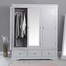 The Furniture Outlet Florence Grey Painted Triple