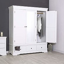 The Furniture Outlet Florence White Painted Triple
