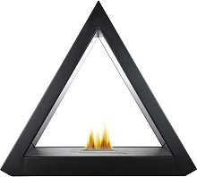 The Geo Bio Ethanol Fireplace Suite in Black, 39